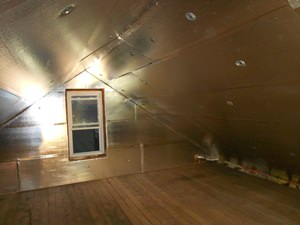 A Annapolis home with superior SuperAttic attic insulation installed.