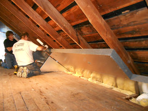 Efficient attic insulation and air sealing system in Annapolis.