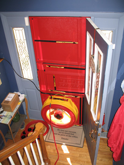 Blower door test for Glen Burnie homes