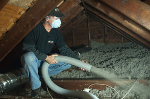 Blown-in Cellulose Attic Insulation Central MD | Attic Insulation Contractor Maryland
